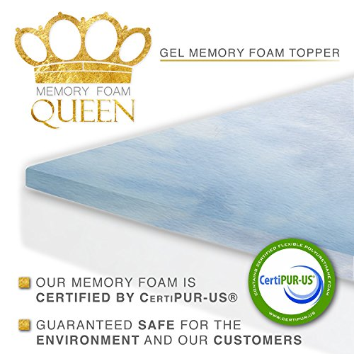 Memory-Foam-Queen-Memory-Foam-Gel-Mattress-Topper-0-0