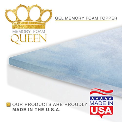Memory-Foam-Queen-Memory-Foam-Gel-Mattress-Topper-0-1