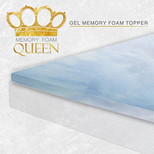 Memory-Foam-Queen-Memory-Foam-Gel-Mattress-Topper-0