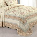 Modern-Heirloom-Collection-Rosaleen-Cotton-Quilted-Bedspread-King-120-by-118-Inch-0