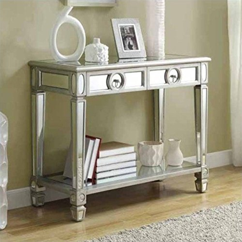Monarch-Specialties-Length-Sofa-Console-Table-with-2-Drawer-38-Inch-Mirrored-0