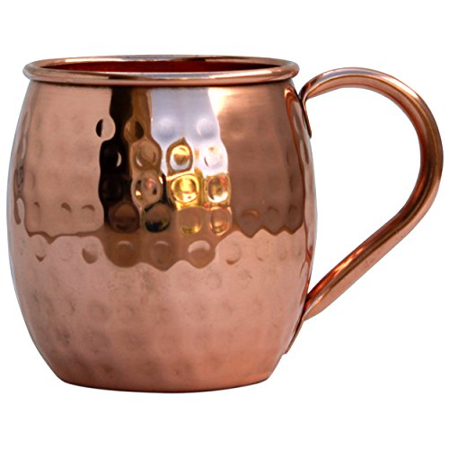 Morken-Barware-Moscow-Mule-Mugs-Each-Mug-12-Pound-In-Weight-100-Solid-Copper-Hammered-Finish-Set-of-4-16oz-0-0