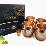 Moscow-Mule-Mugs-Set-Of-4-By-Knooop-Enjoy-The-Traditional-Drink-In-Handmade-16-oz-100-Copper-Mugs-Included-Bonus-Copper-Shot-Glass-And-Cocktail-Recipes-Booklet-0