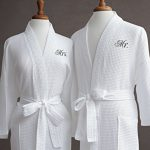 Mr-Mrs-Couples-Waffle-Weave-Bathrobe-Set-100-Egyptian-Cotton-UnisexOne-Size-Fits-Most-Spa-Robe-Luxurious-Soft-Plush-Elegant-Script-Embroidery-Perfect-Wedding-Gift-Luxor-Linens-0