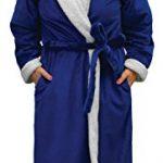 Napa-Womens-Super-Soft-Warm-Sherpa-Bathrobe-Micro-Fleece-Kimono-Collar-Plush-Thick-Spa-Robe-Sleepwear-with-Side-Pockets-0-0