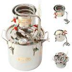 New-5-Gal-20-Litres-Alcohol-Moonshine-Ethanol-Still-Spirits-Stainless-Steel-Boiler-Water-Distiller-Wine-Making-Kit-0