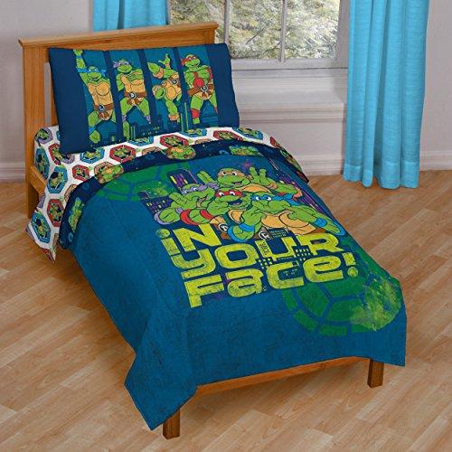 Nickelodeon-Teenage-Mutant-Ninja-Turtles-Turtley-Awesome-Toddler-Bed-Set-0-0