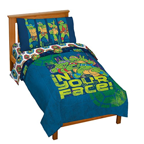 Nickelodeon-Teenage-Mutant-Ninja-Turtles-Turtley-Awesome-Toddler-Bed-Set-0