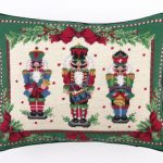 Nutcracker-Melody-Needle-Point-Pillow-14×18-Pillow-100-Woolcotton-Christmas-Holiday-Dcor-New-0