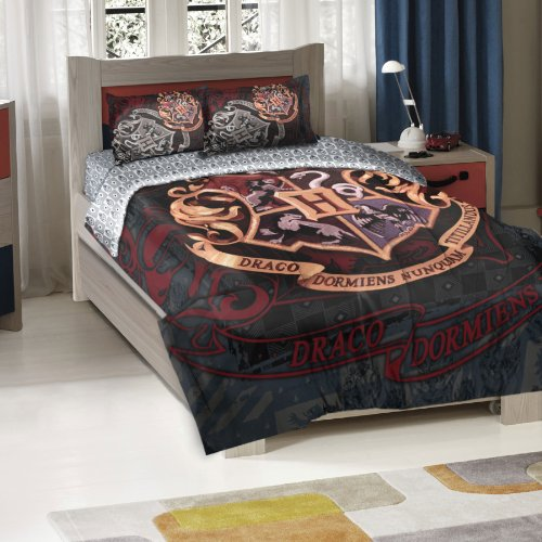 Officially-Licensed-Twin-Full-Bed-Comforter-and-Sham-Set-Harry-Potter-School-Motto-0-0