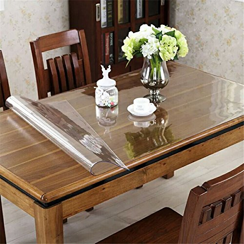 OstepDecor-Custom-Waterproof-PVC-Protector-for-TableDesk-Table-Pads-Table-Covers-With-Multi-Size-Available-Clear-0-0