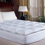 Overstuffed-Queen-Size-Feather-Bed-Pillow-Top-Mattress-Topper-100-Cotton-Cover-Baffle-Box-Design-0