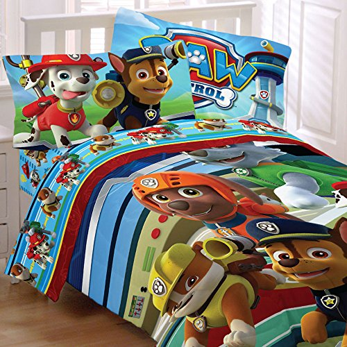 Paw-Patrol-Bedding-Set-Puppy-Hero-Comforter-and-Sheet-Set-0