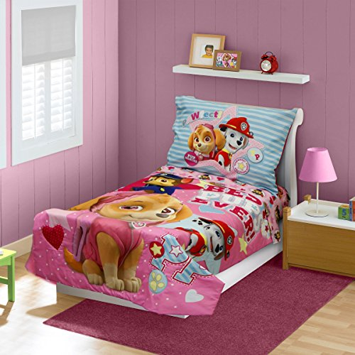 Paw-Patrol-Skye-Toddler-Bedding-Set-Pink-0