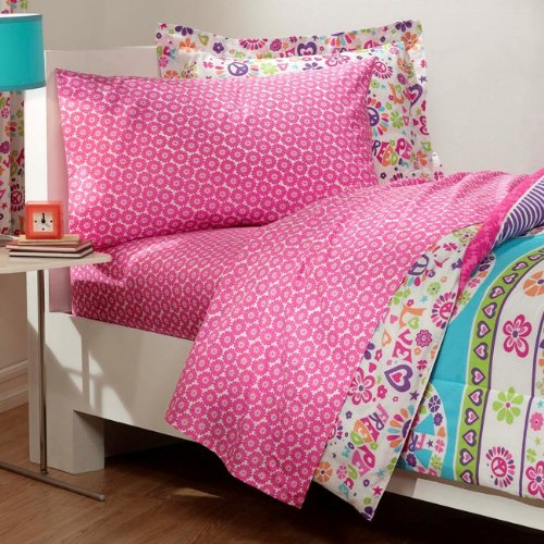 Peace-Signs-Multicolor-Girls-Comforter-Set-0-1