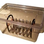 Perfect-Sousvide-5PL1R-475-Gal-19-qt-Clear-Polycarbonate-Pan-Custom-Lid-and-Expandable-Rack-for-Circulator-Sous-Vide-0