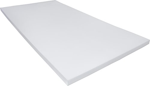 PharMeDoc-Memory-Foam-Mattress-Topper-2-Inch-Thick-Soft-Breathable-Bed-Overlay-Pad-Twin-Twin-XL-Queen-White-0-0