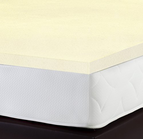 PharMeDoc-Memory-Foam-Mattress-Topper-2-Inch-Thick-Soft-Breathable-Bed-Overlay-Pad-Twin-Twin-XL-Queen-White-0