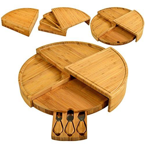 Picnic-at-Ascot-Vienna-Transforming-Bamboo-Cheese-Board-Set-0-0