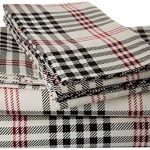 Plaid-Printed-Deep-Pocket-Flannel-Sheet-Set-0