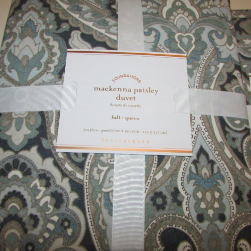 Pottery Barn Mackenna Paisley Duvet Full Queen Amp Two Euro
