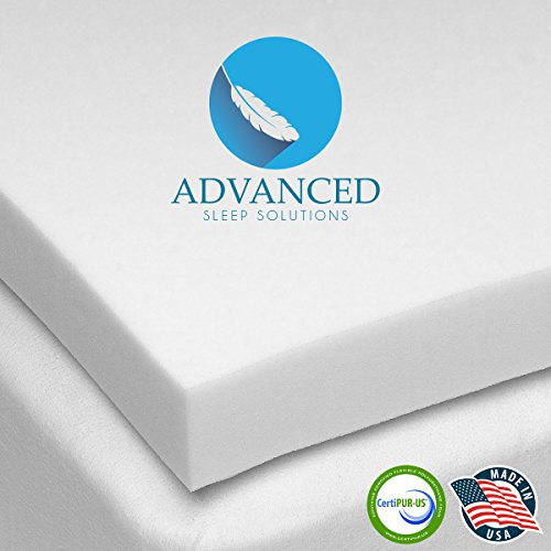 Premium-Memory-Foam-Mattress-Topper-2-Inch-ViscoElastic-CertiPUR-US-Soft-Cool-Comfort-and-Pressure-Point-Relief-USA-Made-60-Day-Comfort-Assurance-Plan-3-Year-Extended-Coverage-0