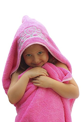 Princess-Hooded-KidBaby-Towel-275-x-49-Plush-and-Absorbent-Luxury-Bath-Towel-600-GSM-100-Cotton-0-0