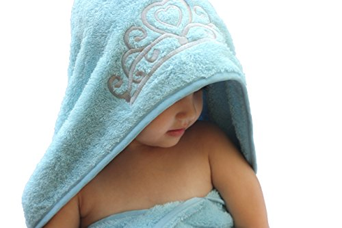 Princess-Hooded-KidBaby-Towel-275-x-49-Plush-and-Absorbent-Luxury-Bath-Towel-600-GSM-100-Cotton-0-1