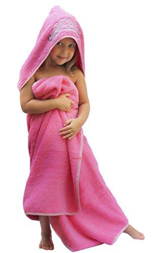 Princess-Hooded-KidBaby-Towel-275-x-49-Plush-and-Absorbent-Luxury-Bath-Towel-600-GSM-100-Cotton-0