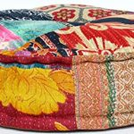 RANGILA-Stuffed-Indian-Vintage-Kantha-Patch-Floor-Cushion-Pouf-Ottoman-Round-Pouf-0-0