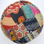 RANGILA-Stuffed-Indian-Vintage-Kantha-Patch-Floor-Cushion-Pouf-Ottoman-Round-Pouf-0-1