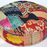 RANGILA-Stuffed-Indian-Vintage-Kantha-Patch-Floor-Cushion-Pouf-Ottoman-Round-Pouf-0