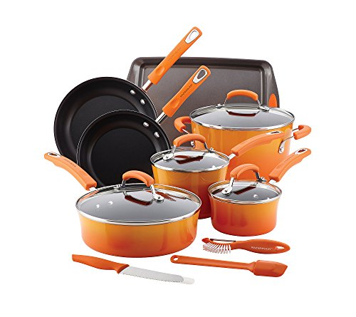 Rachael-Ray-14-Piece-Hard-Enamel-Nonstick-Cookware-Set-0