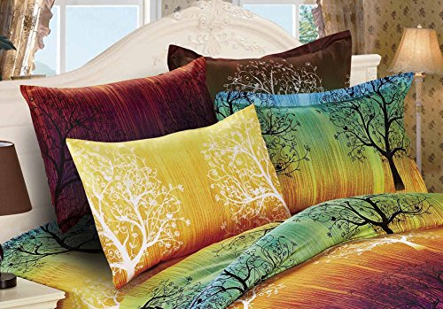 Rainbow-Tree-3pc-Duvet-Cover-Set-Duvet-Cover-and-Pillowcases-0-0