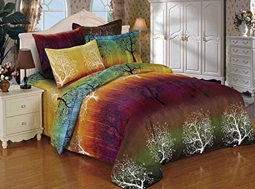Rainbow-Tree-3pc-Duvet-Cover-Set-Duvet-Cover-and-Pillowcases-0