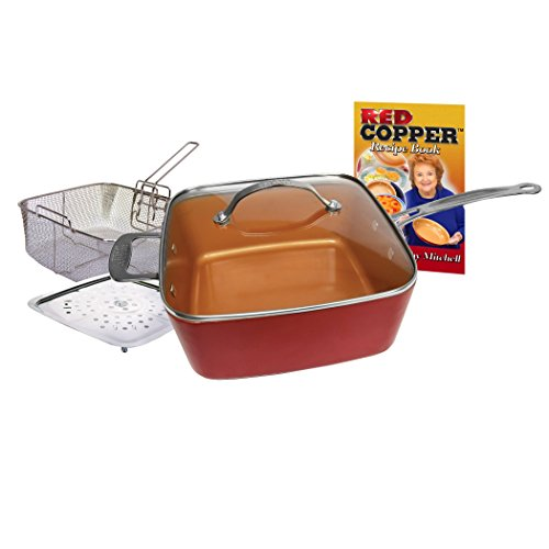 Red-Copper-Non-Stick-Square-Ceramic-Cookware-5-Piece-Set-0