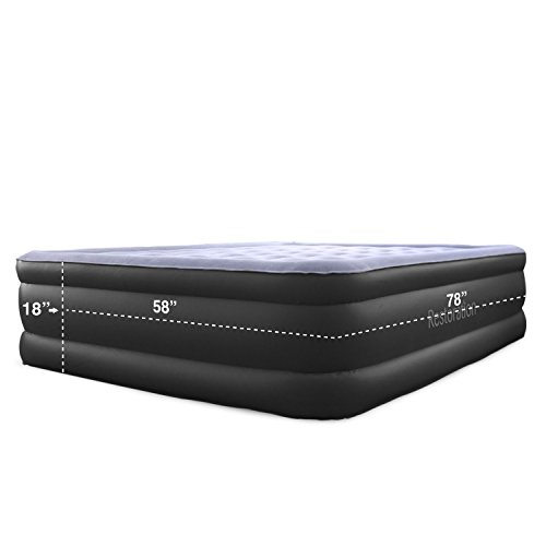 Restoration-Queen-Size-Air-Mattress-Inflatable-Airbed-with-Built-In-Electric-Pump-18-Inch-High-0-0