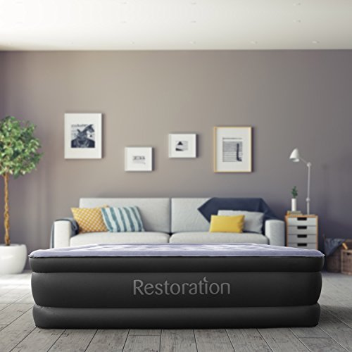 Restoration-Queen-Size-Air-Mattress-Inflatable-Airbed-with-Built-In-Electric-Pump-18-Inch-High-0-1