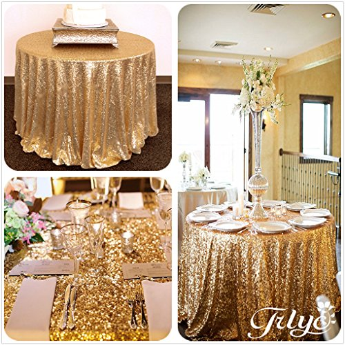 Round-Sparkly-Gold-Sequin-Glamorous-Clothfabric-for-Weddding-Banquet-Any-Size-Available-0