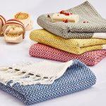 SET-of-4-New-Season-BRIGHTEST-Diamond-Weave-Turkish-Cotton-Bath-Beach-Hammam-Towel-Peshtemal-Blanket-0-1
