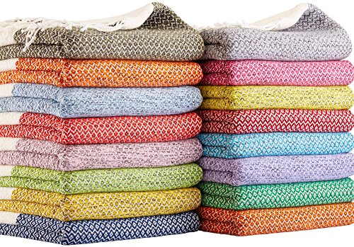 SET-of-4-New-Season-BRIGHTEST-Diamond-Weave-Turkish-Cotton-Bath-Beach-Hammam-Towel-Peshtemal-Blanket-0
