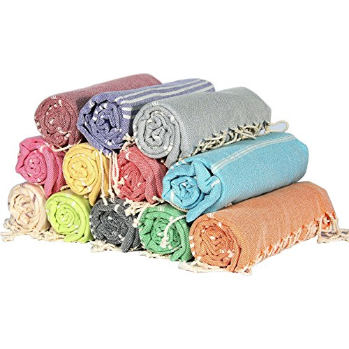 Sale-Set-of-6-XL-Turkish-Cotton-Peshtemal-Bath-Beach-Spa-Sauna-Hammam-Gym-Towel-0