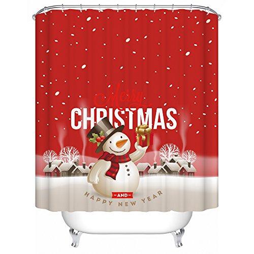 Seasons-Greetings-18-Piece-Embroidery-Bath-Set-1-Bath-Mat-1-Contour-Mat-1-Shower-Curtain-12-Matching-Fabric-Shower-Rings-3-Piece-Matching-Towel-Seat-Small-to-Large-0