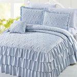 Serenta-4-Piece-Matte-Satin-Ruffle-Quilted-Bedspread-Set-0