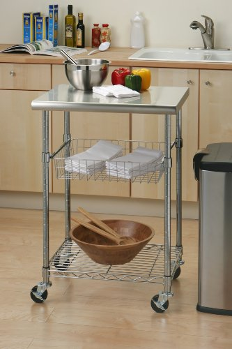 Seville-Classics-Stainless-Steel-Professional-Kitchen-Cart-Cutting-Table-0-0