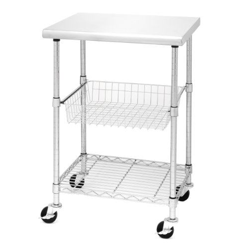 Seville-Classics-Stainless-Steel-Professional-Kitchen-Cart-Cutting-Table-0