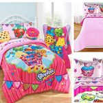 Shopkins-Kids-4-Piece-Bed-in-a-Bag-Twin-Bedding-Set-Reversible-Comforter-Microfiber-Sheets-Pillow-Case-by-Moose-Shopkins-0