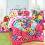 Shopkins-Kids-5-Piece-Bed-in-a-Bag-Full-Size-Bedding-Set-Reversible-Comforter-Microfiber-Sheets-Pillow-Cases-0-0
