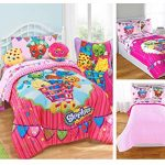 Shopkins-Kids-5-Piece-Bed-in-a-Bag-Full-Size-Bedding-Set-Reversible-Comforter-Microfiber-Sheets-Pillow-Cases-0