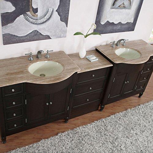 Silkroad-Exclusive-Countertop-Travertine-Double-Sink-Bathroom-Vanity-with-Cabinet-95-Inch-0-0